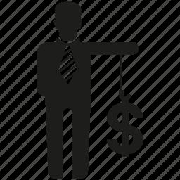 business man, finance, money icon