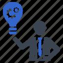 brainstorming, concept, idea, solution icon