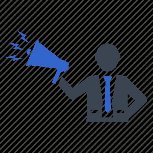 advertising, marking, megaphone, news, promotion icon