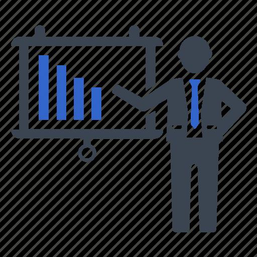 analysis, graph, growth, presentation, statistics icon