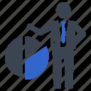 analysis, analytics, business, diagram, pie chart icon
