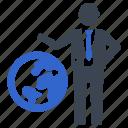 global business, global communication, world, worldwide icon
