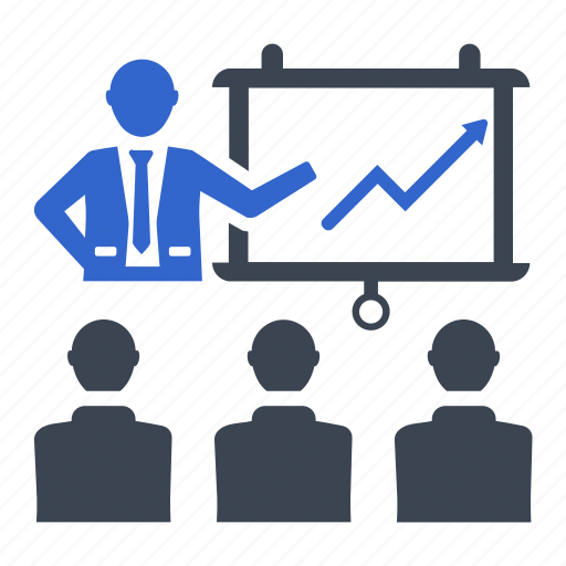 meeting, presentation, teamwork, workstation icon