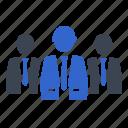 businessman, group, leader, leadership, team icon