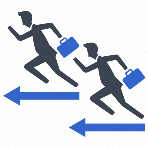 business competition, competitors, race, running icon