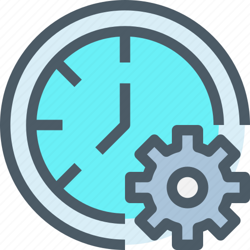 business, develop, gear, management, time, timer icon