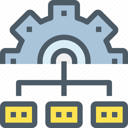 business, chart, gear, management, plan, process icon