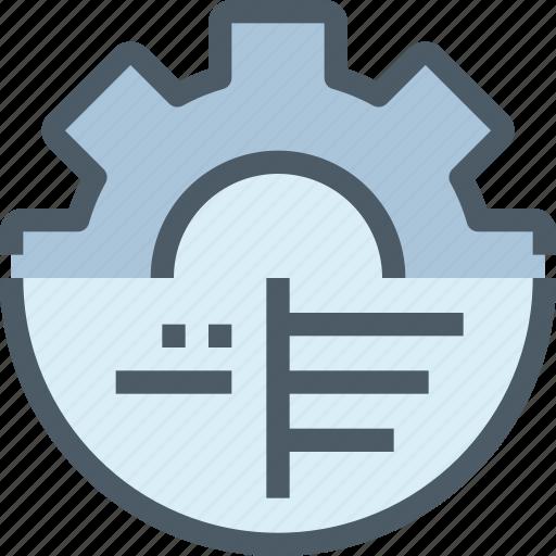 analysis, data, gear, management, process icon