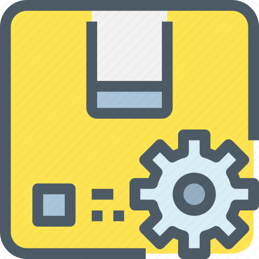 corporate, gear, management, process, product, production icon