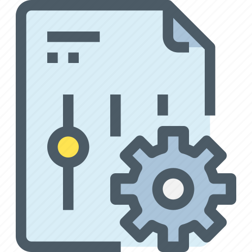 Management, option, setting, file, document, gear icon