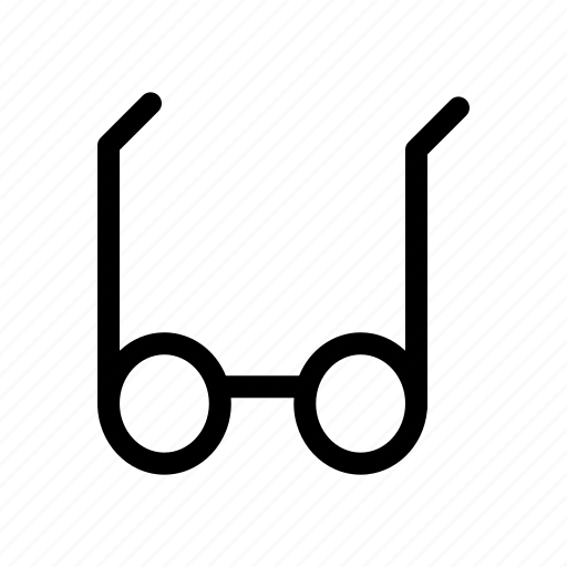 business, finance, glasses, management, marketing icon