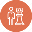 chess, human, person, piece, plan, skills, strategy icon