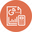 accounting, analytics, chart, document, graph, report, statistics icon