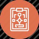 clipboard, diagram, flowchart, management, plan, scheme, workflow