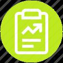 analytics, chart, clipboard, graph report, report, stats