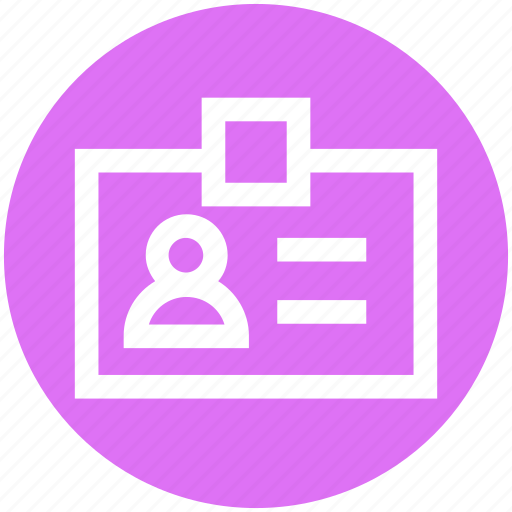 badge, card, id card, identity, people, profile, user icon