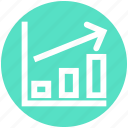 arrow, bars, chart, diagram, growth, report, sales icon