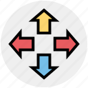 arrows, arrows expanding, expand arrows, web arrows icon