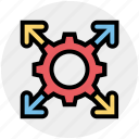 arrows, business, cog, gear, gear wheel, setting