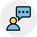 chat, message, people, person, talk, user icon