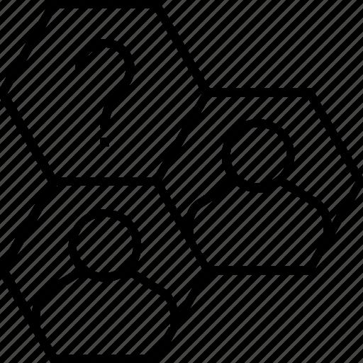 audience, customer, customer segmentation, faq, market segment icon