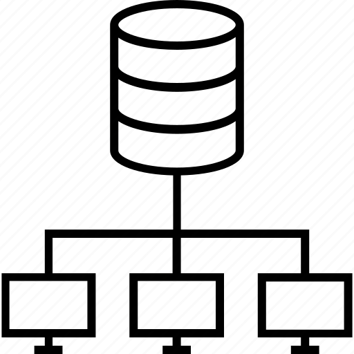 computing, data mining, data share, mining, server icon