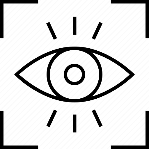 detection, focus, monitoring, view, vision icon