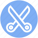 cut, cutter, cutting, edit, scissor, scissors icon