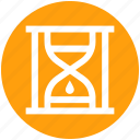 deadline, hourglass, sand, time management, timer icon