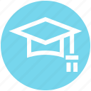 cap, degree, diploma, graduate, graduation, hat, study icon