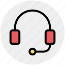 earphone, headphone, headset, listening, telemarketer icon