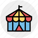 circus, circus tent, fair, fairground, fun, park tent, tent icon