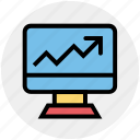 business, chart, graph, growth, lcd, monitor, statistics icon
