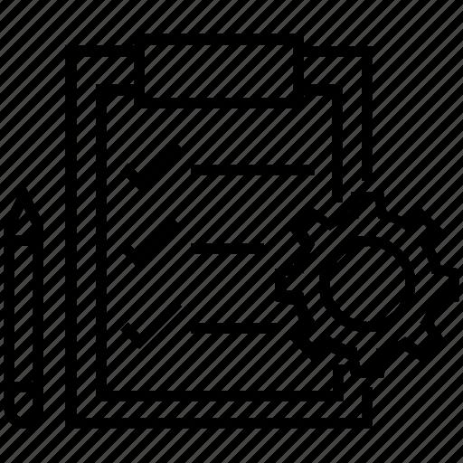 checklist clipboard cog order order processing icon