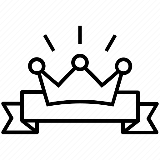 achievement, crown, royal, success, victory icon