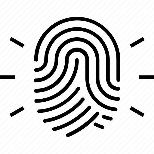 biometric, fingerprint, identity, originality, sensor icon