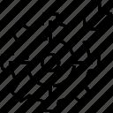 aim, bullseye, cog, goal setting, target icon