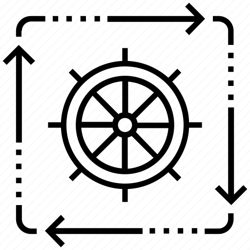 organization, process, sitemap, wheel, workflow icon