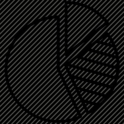 diagram, pie chart, pie graph, sections, statistics icon