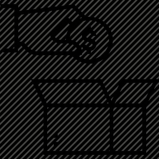 charity, contribution, dollar, donation, finance icon