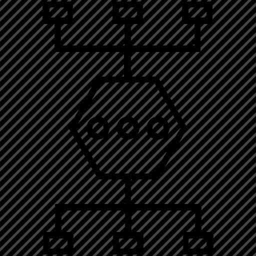 hierarchy, interaction pattern, methods, scheme, workflow icon