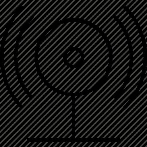 antenna, radar, signals, transmitter, video communication icon