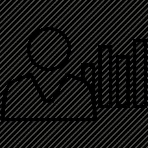 bar graph, customer retention, customer satisfaction, feedback, graph icon