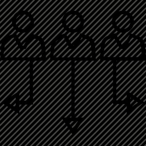 management, organization, people, quantitative management, team icon