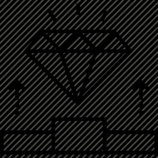 diamond, gem, personalization, preferences, user preferences icon