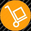 box, cargo cart, cargo trolley, delivery, pushing trolley, shopping trolley icon