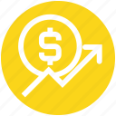 business, dollar coin, growth, investment, profit, progress, up icon