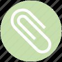 attach file, attachment, business, clip, office, paperclip icon