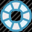 beach, guarder, life wheel, lifeboat, safe, sea icon