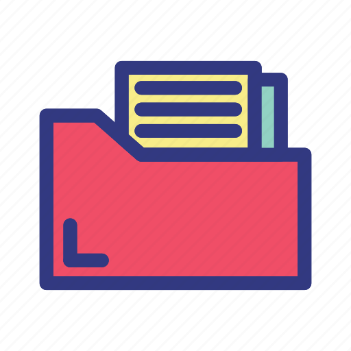 business, document, folder, growth, management icon